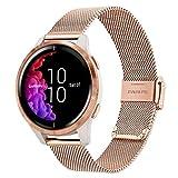 TRUMiRR Reemplazo para Garmin Vivoactive 3/Garmin Venu Correa de reloj,20mm Banda de reloj de acero inoxidable de malla tejida...