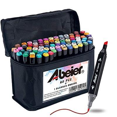 Amazon - Save 50%: 81 Colors, Alcohol Art Markers, Advanced Dual Tip, Plus 1 Blender Marke…