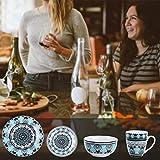 VEWEET, Tafelservice Serie 'Audrie' aus Porzellan, 32-teilig Kombiservice beinhaltet 10,75 '' Speiseteller, 7,5 '' Desserteller, 5,5 '' Schüssel und 380ml Kaffeebecher,Komplettservice für 8 Personen - 7