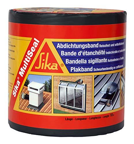 Sika Multiseal SG, Gris, Banda autoadhesiva bituminosa soporte múltiple, para reparación de cubiertas y fisuras en edificios 15 cm x 12 ml
