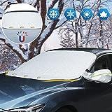 Copri Parabrezza per Auto Inverno Protezione Parabrezza Auto Copertura per Parabrezza Auto 3 Magneti Antighiaccio Contro Neve, Ghiaccio, Gelo, Polvere, Sole UV Adatto la Maggior Parte dei Veicoli