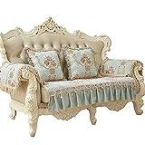 HJUNH Funda de Sofá Cubre Chaise Longue Anti-Sucio,Conjunto de sofá de Tela, Funda de protección Reversible para Muebles, Funda de sofá Impermeable,-Azul_80 * 180 cm (31 * 71 Pulgadas)