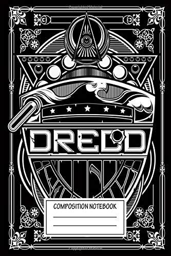 Composition Notebook: Comics Dredd Badge Vector Wide Ruled Note Book, Diary, Planner, Journal for Writing