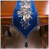 DXNXLLY Decorazioni per la casa Imple Tabella Bandiera Fiore Modello Tessuto Modo Europeo Tavolino Letto d'albergo Wedding Banquet Multicolor per la Decorazione Domestica del Partito