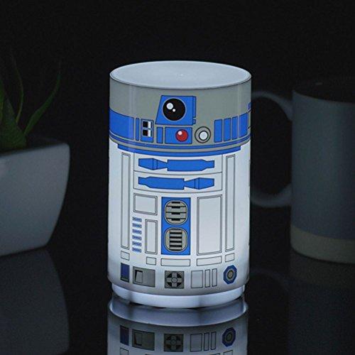 Star Wars kleine R2-D2-Lampe mit Geräuschen, mehrfarbig