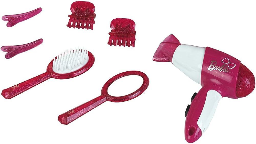 Theo klein ,barbie set parrucchiere con fon e accessori 5790