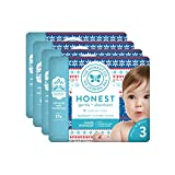 The Honest Company Baby Diapers with True Absorb Technology, Cozy Sweater, Size 3, 108 Count