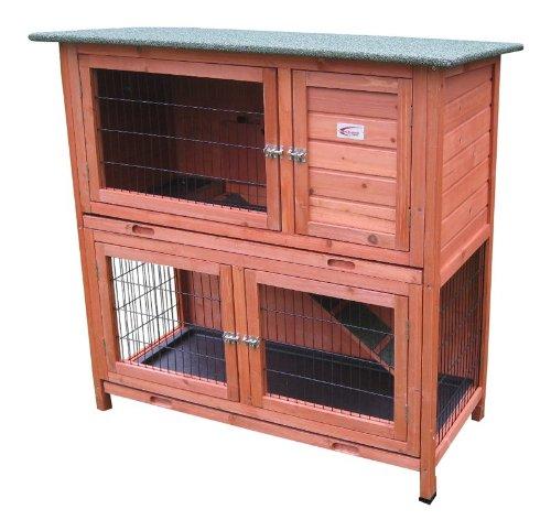 Bunny Business- Madriguera de dos pisos para conejo/cobaya, con bandejas deslizantes, 41 pulgadas