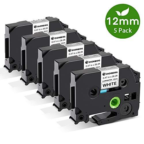 COLORWING Kompatibel Schriftband als Ersatz für Brother TZe 231 TZe-231 TZ-231 Tape Cassette 12mm 0.47 für P-Touch h105 1000 d400, schwarz auf weiß 12mm x 8m