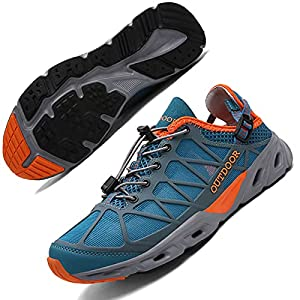 RUNMAXX Mens Womens Water Shoes Hiking Shoes Quick Drying Barefoot Aqua Sneakers Fishing Shoe Walking Athletic Sandals for Wading Beach Surfing Swimming Kayaking Boating Sailing Diving Rafting