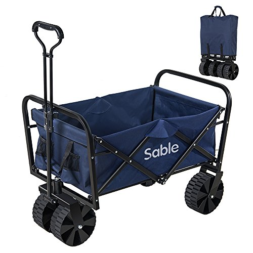 Sable キャリーカート アウトドア ワゴン(耐荷重100kg、折りたたみ式、手洗い可) アマルチキャリー キャンプ レジャー 多用途 SA-HF021