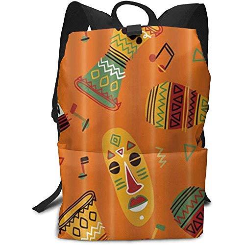 Afrikanische Musikinstrument Djembe Totem Business Laptop Rucksack College Rucksack für Frauen Männer, Casual Wandern Travel Daypack