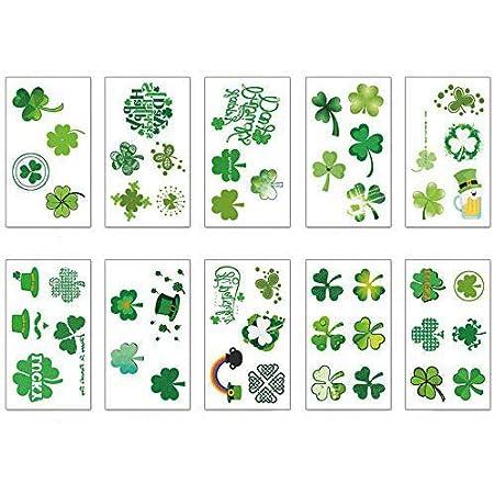 Irish Temporary Shamrock Tattoos Sticker Accessories for Saint Patricks Day Decoration St Patricks Day Decoration Tattoos