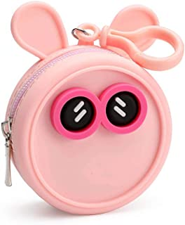 Coin purse for Women Fashion Stadium Approved Miracle Zip Key Chain Pouch Coin Pouch Silicone Vegan