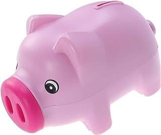 QUEENTAS Tirelire en Plastique Tirelire Cochon Rose Mignon pour Enfants et Adultes