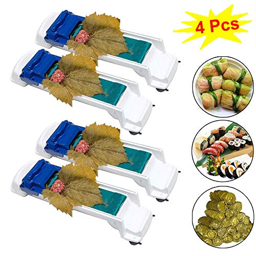 4 Pack Vegetable Meat Roller,Sushi Roller Meat Rolling Tool for Beginners and Children Stuffed Grape & Cabbage Leaves, Kitchen DIY Sushi Maker Meat Sarma Rolling Tool Machine