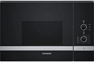 Micro ondes Encastrable Siemens BF550LMR0 - Micro-Ondes Integrable Noir et inox - 25 litres - 900 Watts