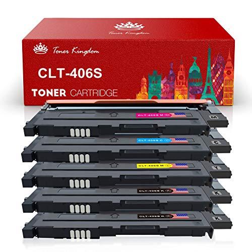 Toner Kingdom Kompatible Tonerkartusche für Samsung CLT-P406C CLT-K406S CLT-C406S CLT-M406S CLT-Y406S für Samsung Xpress C410W C460 C460W, CLT-406S CLP-360 CLP-365 CLP-365W CLX-3300 CLX-3305 CLX-3305FN CLX-3305FW CLX-3305N CLX-3305W Drucker (5Pack)