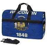 All3DPrint Wisconsin State Flag - Bolsa de Deporte con Compartimento para Zapatos