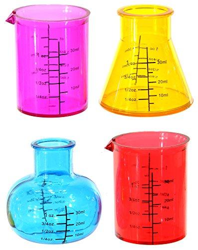 Schnapsgläser 4er Set TEST TUBES Laborgläser Reagenzgläser