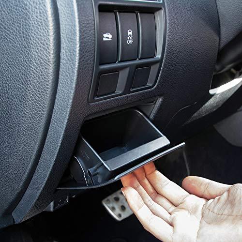 JKCOVER Interior Inner ABS Black Fuse Box Coin Container Storage Dash Tray Compatible with Subaru XV Crosstrek Forester Outback Legacy Impreza WRX STI Ascent (Black)
