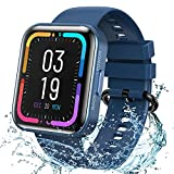 KOSPET Magic 3 Smartwatch,1.71 inch 3D Curved Full Touch Screen Smartwatch 20 Sports Modes Real Blood Oxygen Blood Pressure Test,Heart Rate and Sleep Monitoring IP68 Waterproof Bluetooth 5.0-Blue
