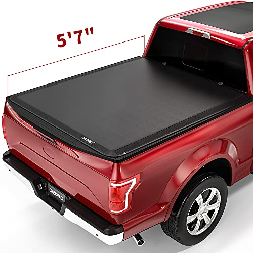 OEDRO Soft Roll Up Truck Bed Tonneau Cover Compatible with 2015-2021 Ford F-150...