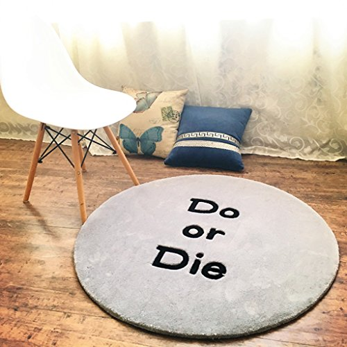 *Bereich Teppich Teppiche, Trendy Individualität Teppiche Wohnzimmer Couchtisch Schlafzimmer Stühle Computer Stuhl Hangar Arbeitszimmer Teppich Teppich (Farbe : B, größe : Round-150cm)
