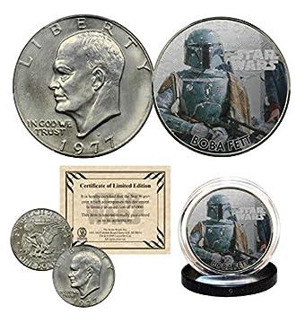 Boba Fett - Star Wars Officially Licensed 1977 Eisenhower IKE Dollar U.S Coin