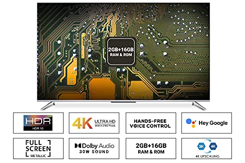 iFFALCON 139 cm (55 inches) 4K Ultra HD Smart Certified Android LED TV 55K71 (Sliver) (2021 Model)| With Voice Control 2