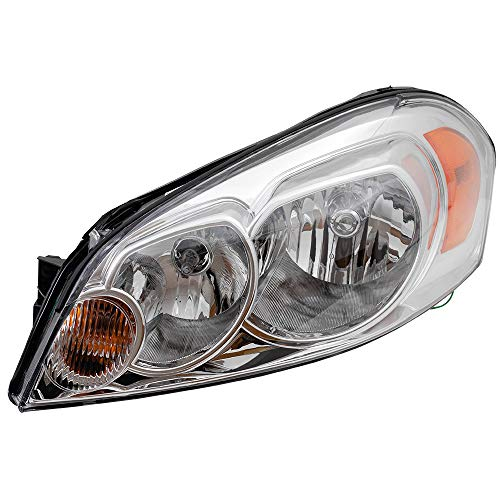 Replacement Driver Halogen Headlight Lens Compatible with 2006-2013 Impala 25958359