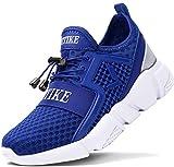 ASHION Kinder Turnschuhe Jungen Sport Schuhe Mädchen Kinderschuhe Sneaker Outdoor Laufschuhe für Unisex-Kinder(F-Blau,35 EU)