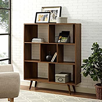 Cool male living space Mid-century modern bookshelf