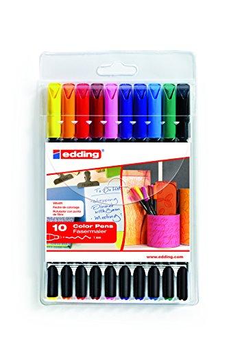 Edding rotuladores Edding 1200colourpen 10unidades, 1mm, colores surtidos
