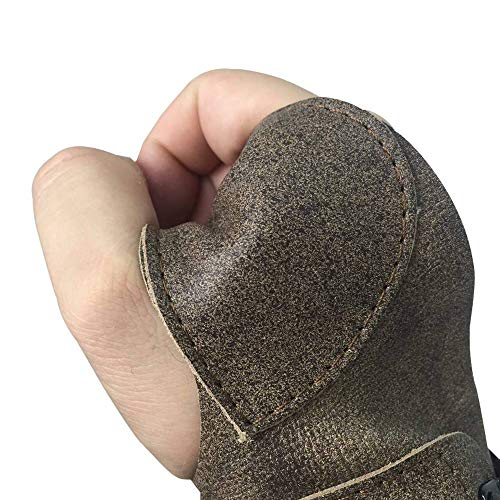 ArcheryMax Handmade Antique Leather Arm Guard Bow Hand Shooting Glove,Right Hand