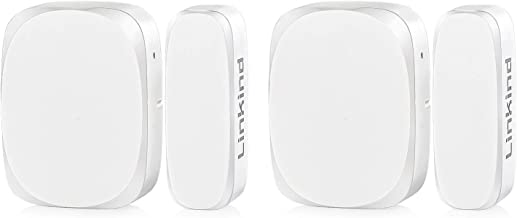 Linkind Door Window Sensor, Zigbee-White, for Use with Linkind Home Security System, Automation with Linkind Smart Zigbee ...