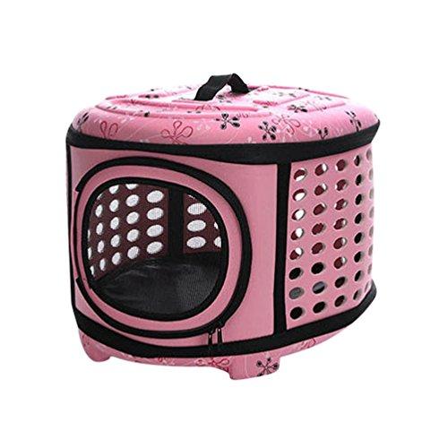 JEELINBORE Transporttasche Tragbar Faltbar Tragetasche für Tiere Hunde Katze Hundetasche (Rosa, L)