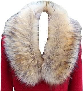 LDFWAY Faux Fur Collar Scarf Hood Collar Shawl Stole Neck Warmer for Winter Coat