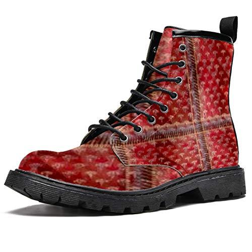 Cortina de asiento de coche con estampado de botas de invierno para mujeres y niñas, botas de nieve cálidas con cordones en la parte superior del tobillo para la escuela, color Multicolor, talla 40 EU