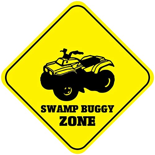 St574ony Metal Sign 12x12 Inches Poster Plaque Funny Sign Metal Plaque Cross Sign Swamp Buggy Zone Crossing Metal Wall Decor