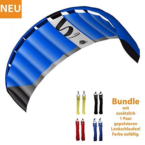 HQ Lenkdrachen Lenkmatte Drachen Symphony Pro 2.5 Neon Bundle Kite