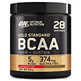 Optimum Nutrition Gold Standard BCAA Powder Branch Chain Amino Acids Supplement with Vitamin C, Wellmune and Electrolytes for Intra Workout Support, Strawberry Kiwi, 28 Servings, 266 g