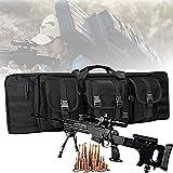 YUnZhonghe Bolsa de rifle doble, mochila de Airsoft con protección de relleno central, caza de caza, funda de transporte de arma de fuego, bolsa de pistola al aire libre impermeable para pistola de al