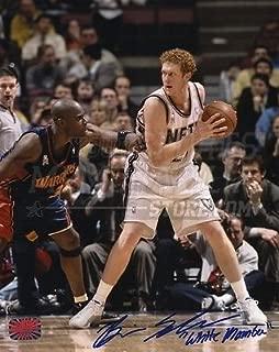 Brian Scalabrine New Jersey Nets Signed Action vs Warriors 8x10 White Mamba