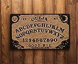 Gategoo Halloween Decorative Doormat, Dangerous Magical Game Ouija Board Pattern Doormat (White;24x16)