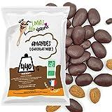 [MA] bio-épicerie   Almendras recubiertas de chocolate negro ecológico   940G   Bolsa a granel   Producto organico certificado