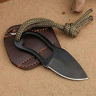 Barhunkft(TM) Hot Mini Cuchillo de Bolsillo para Dedo, autodefensa, Supervivencia, Pesca, Cuello con Vaina