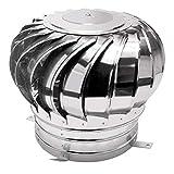 JXJ Tapa giratoria para Chimenea, giratoria de Acero Inoxidable 304, antivaho, se Adapta a la mayoría de Las chimeneas estándar Ventilador de turbina giratoria, 100 mm