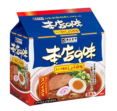 寿がきや 5食入 本店の味 メンマ風味しょうゆ味 440g ×6袋