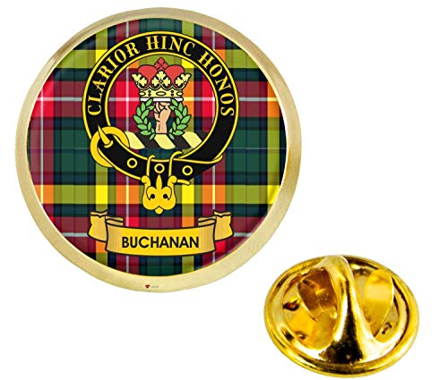 Buchanan Scottish Clan Crest Lapel Pin Badge in Gold Colour Product Of Scotland